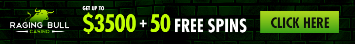 Raging Bull Casino: WB 350% + 50 FS