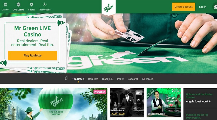 Play Blackjack Online! 100% Bonus at Mr Green Now