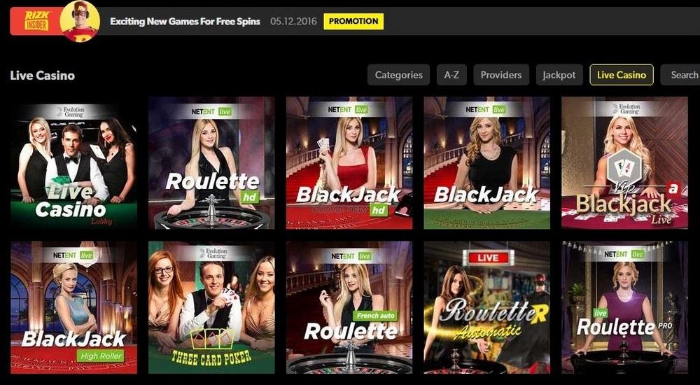 VIP Roulette - Rizk Casino