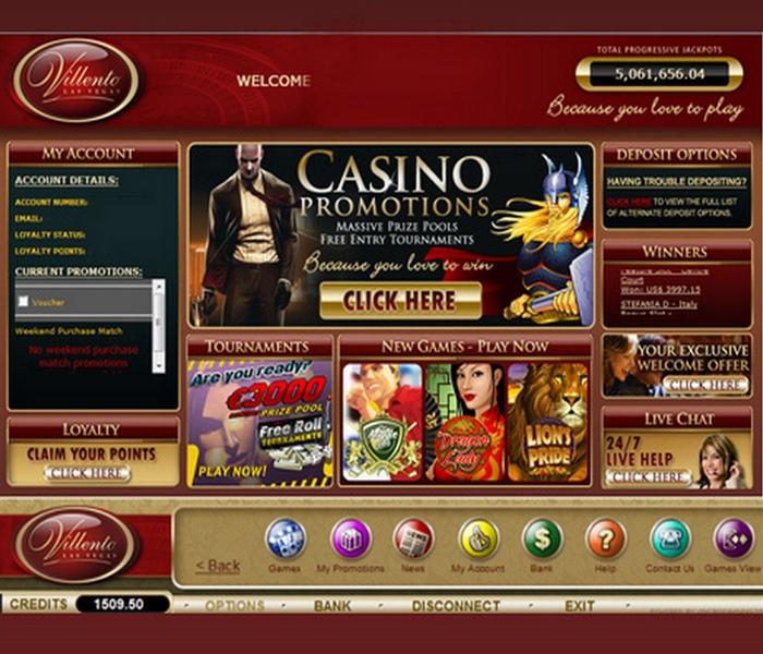 villento casino download