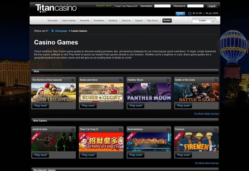no deposit titan casino
