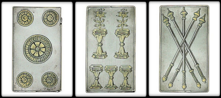 4,500 - Price for Set of Silver Playing Cards