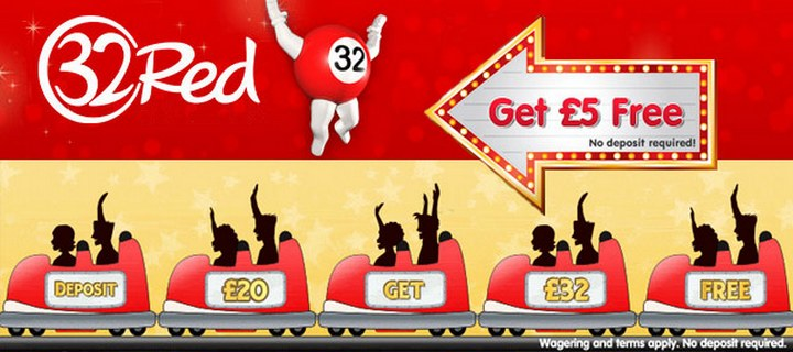 Win £5 Cash Bonus at 32red Casino