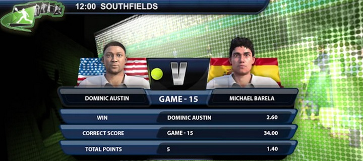 Playtech Launches New Generation Virtual Tennis Game
