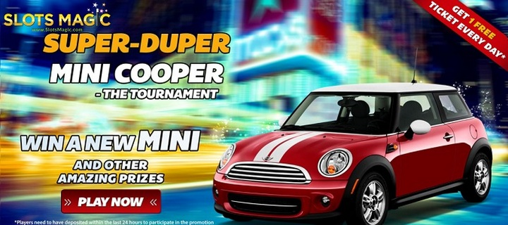Win a Mini Cooper and Cash Bonuses at SlotsMagic Casino