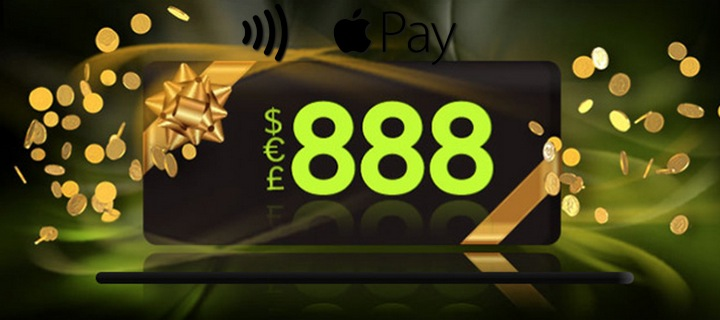 United Kingdom players can now enjoy the convenience of depositing directly into their real money casino 888 accounts via casino payment method Apple Pay.