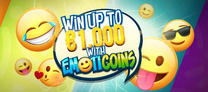 Win Up to 1000 with New Emoticoins Slot at Energy Casino