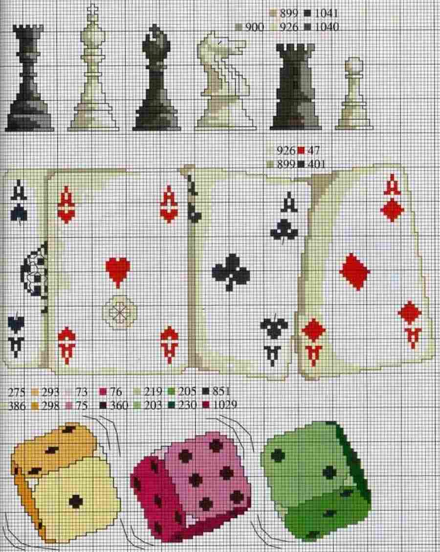 Сasino-Themed Cross-Stitch 3