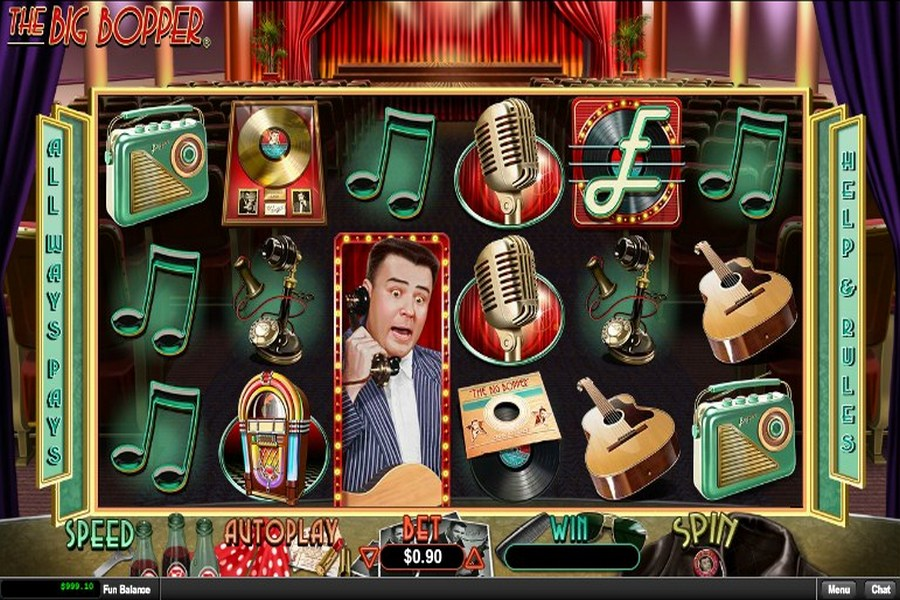 The Big Bopper Slot Machine - Free Online Casino Game by RTG