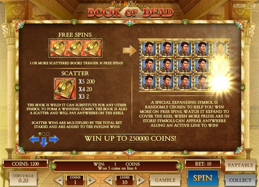 book of dead slot bonus