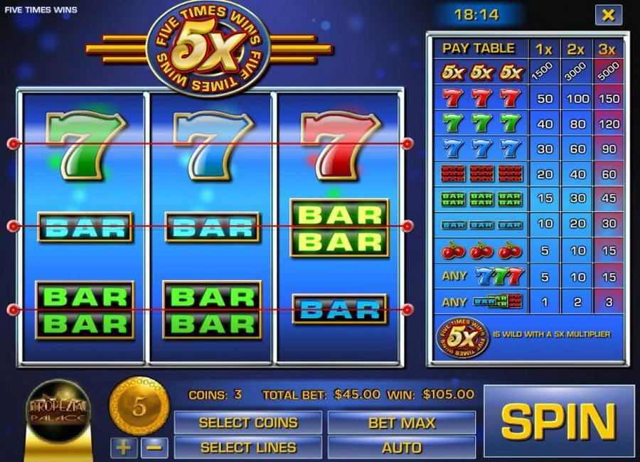 Five Times Wins Slot - Play this Video Slot Online