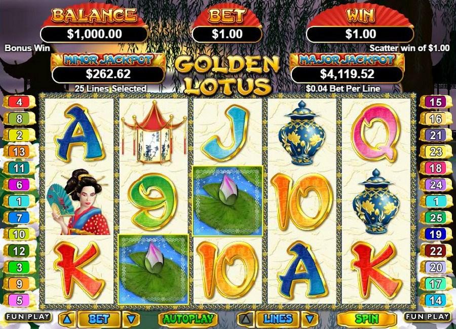 Free Slots Games Golden Lotus