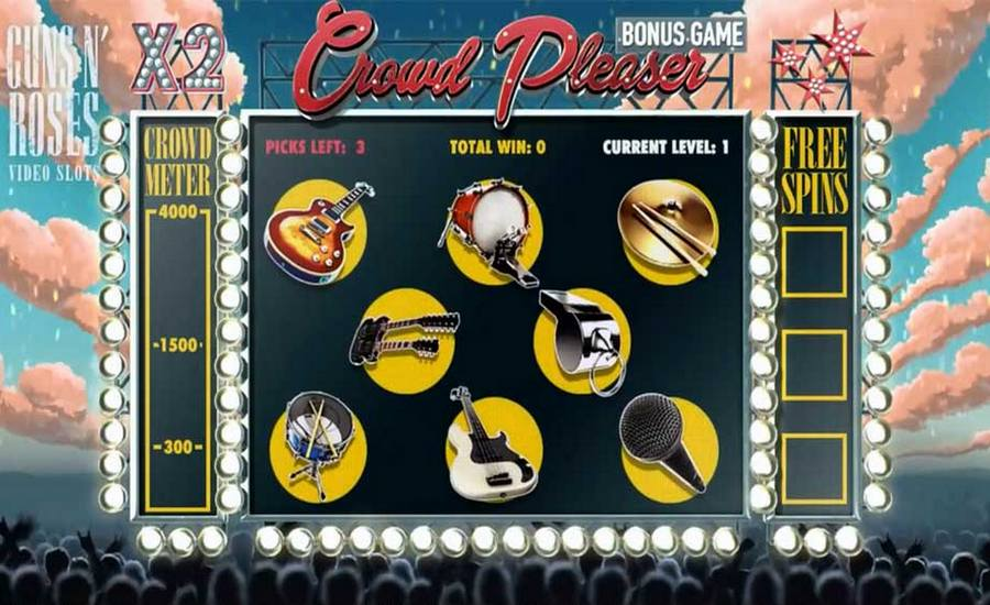 Play The No Download Pistols And Roses Free Play Slot Machine