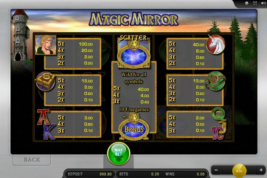 Magic Mirror Slot Machine - Play Free Merkur Games Online