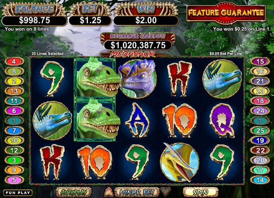 Megasaur Slot Machine Online ᐈ RTG™ Casino Slots