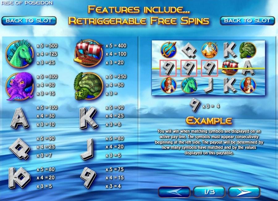 Poseidon slot machine