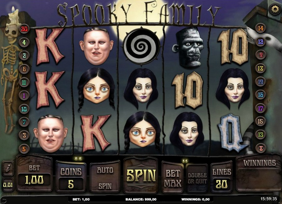 Spooky Family Slots - Free Online Casino Game by iSoftbet