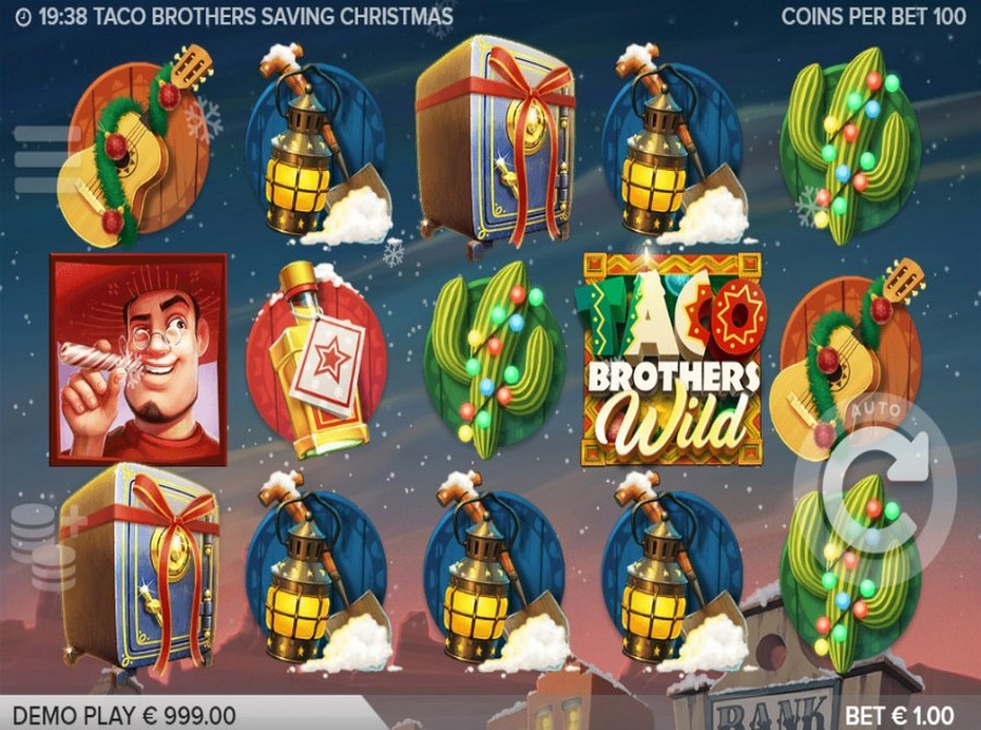Taco Brothers Saving Christmas Slot Machine - Play for Free
