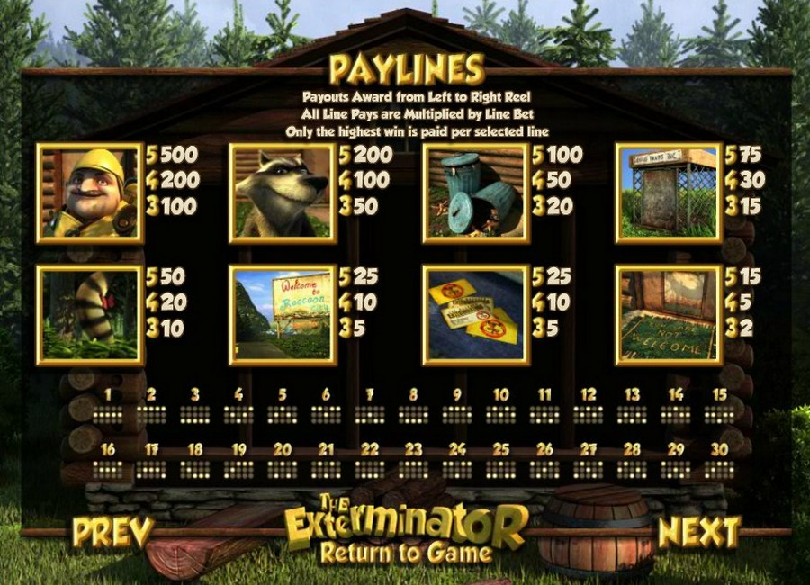 Try The Exterminator Slots with No Download Today