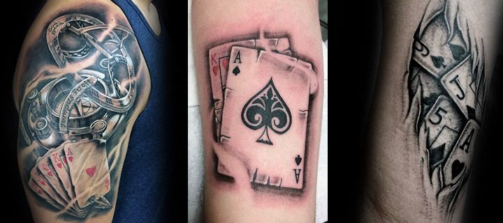 90 Playing Casino Tattoos – Lucky Ideas, part 2