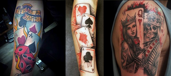 90 Playing Casino Tattoos – Lucky Ideas, part 3/3